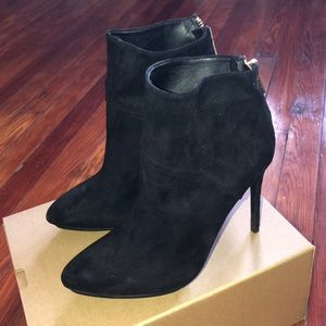 Brand new ZARA black suede ankle booties